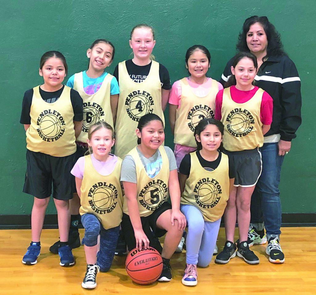 Youth basketball team.