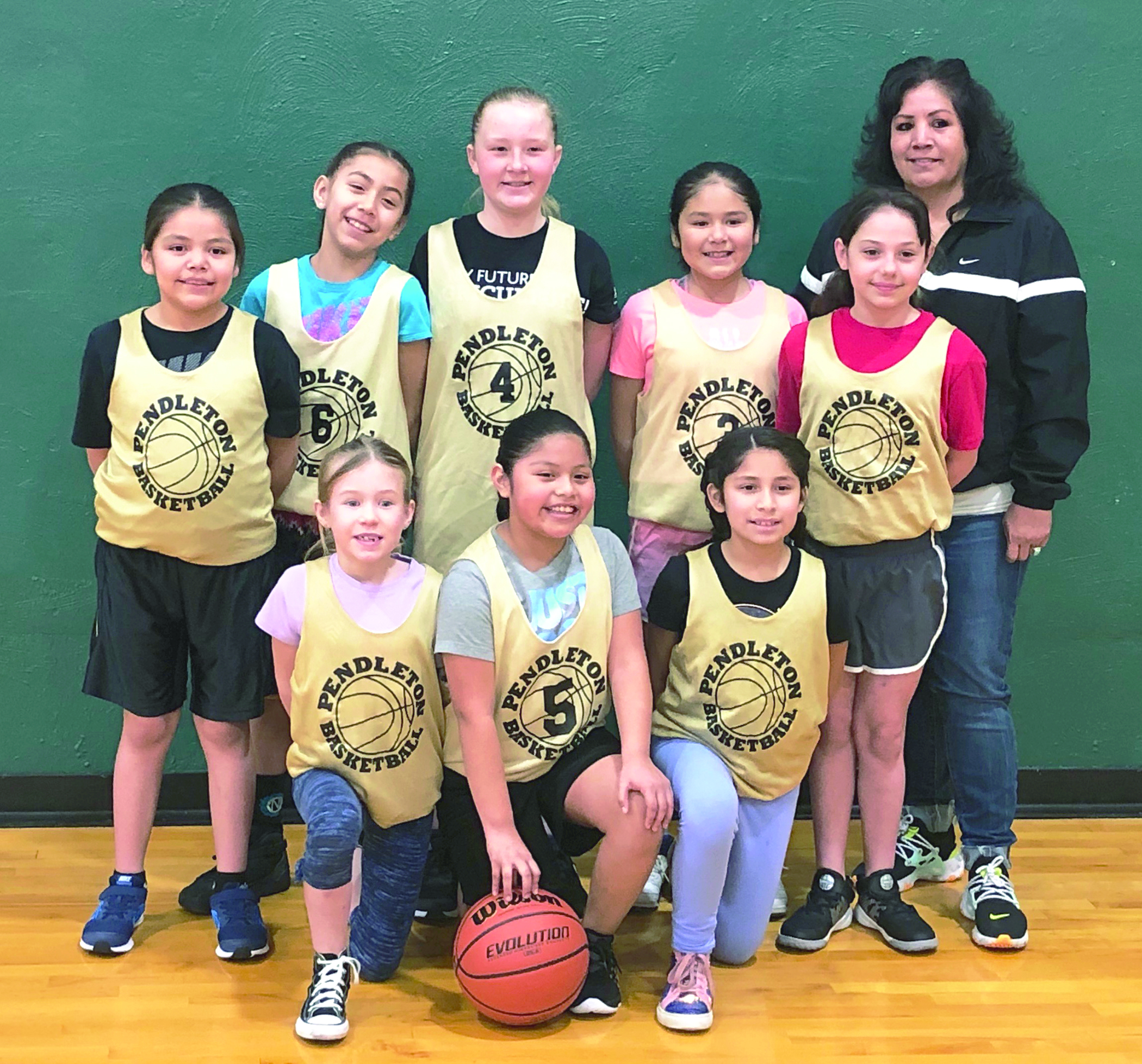Youth basketball team.